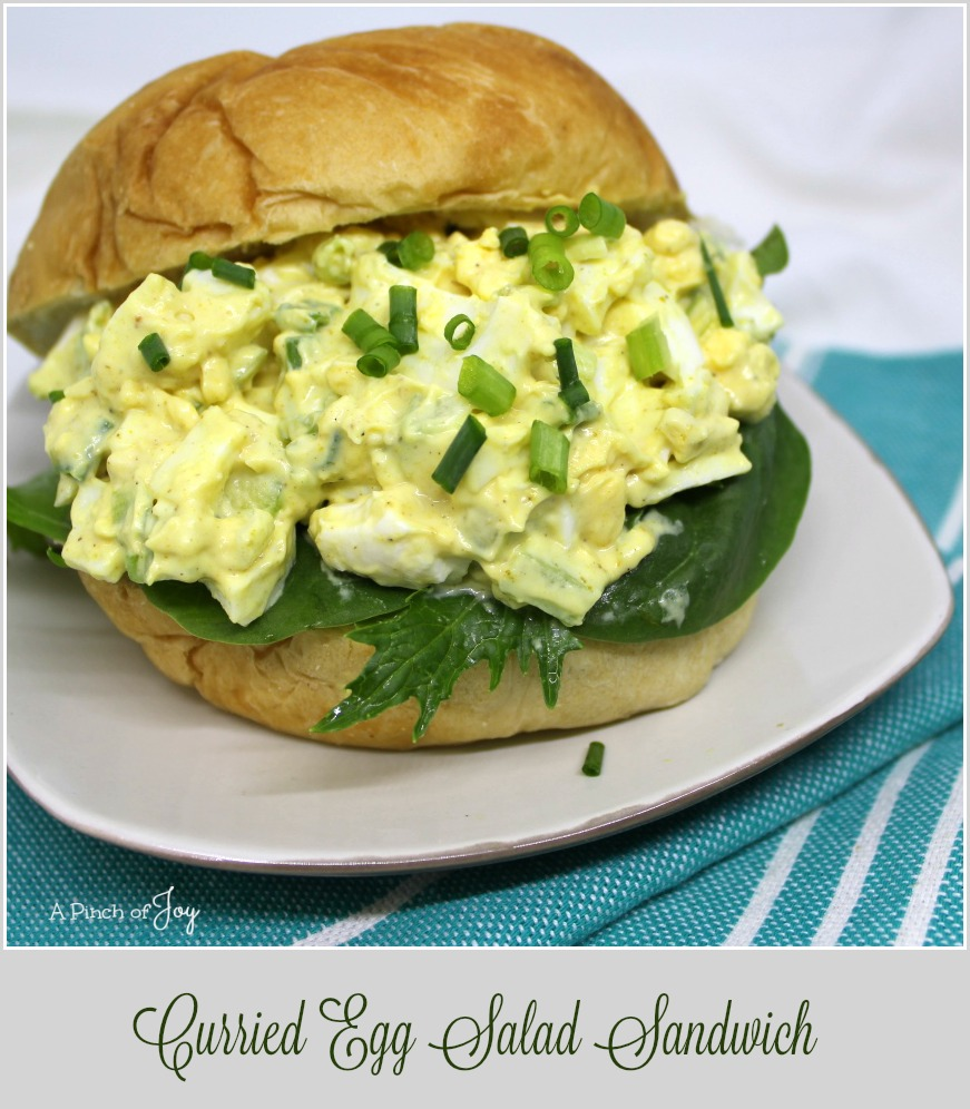 Curried Egg Salad Sandwich - A Pinch of Joy Serve as a salad or as a sandwich!