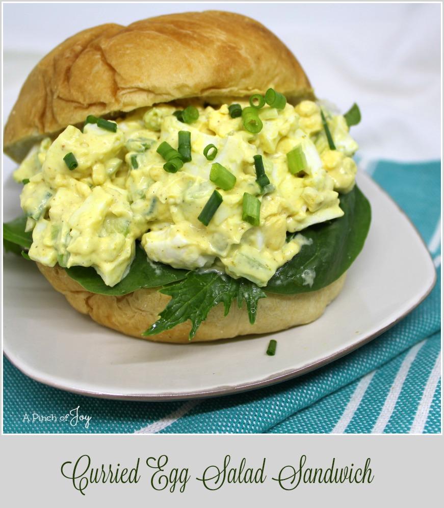 Curried Egg Salad Sandwich - A Pinch of Joy Serve as a salad or as a sandwich!
