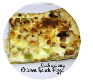 Quick and Easy chicken Ranch Pizza -- A Pinch of Joy..