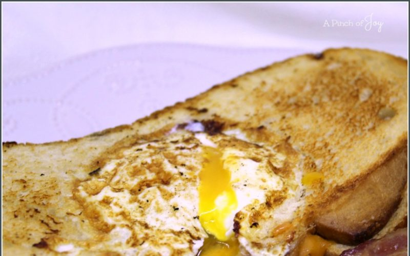 Toad in the Hole Grilled Cheese Sandwich