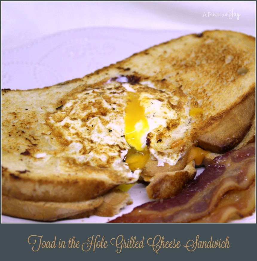 Toad in the Hole Grilled Cheese Sandwich - A Pinch of Joy