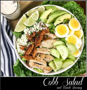 Cobb Salad with Ranch Dressing - A Pinch of Joy #Keto #Low Carb