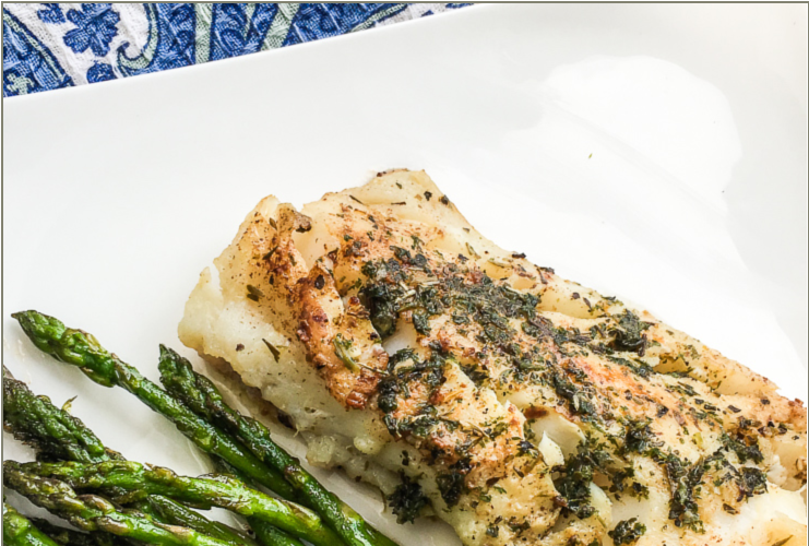 Cod Fish with Garlic Herb Butter