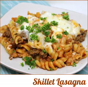 Skillet Lasagna -- A quick and easy recipe from A Pinch of Joy