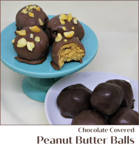 Chocolate Covered Peanut Butter Balls - A Pinch of Joy