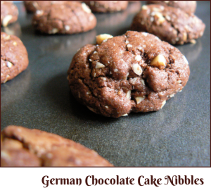 German Chocolate Cake Nibbles --- A Pinch of Joy