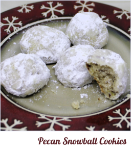 Pecan Snowballs - A Classic Cookies at A Pinch of Joy
