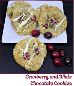 Cranberry and White Chocolate Cookies - A Pinch of Joy