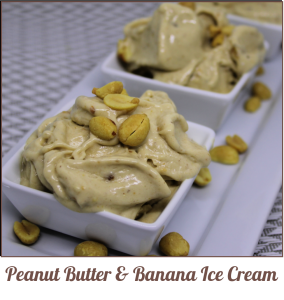 Peanut Butter and Banan Ice Cream - A Pinch of Joy