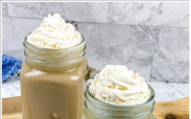 White Cafe Mocha with Whipped Cream