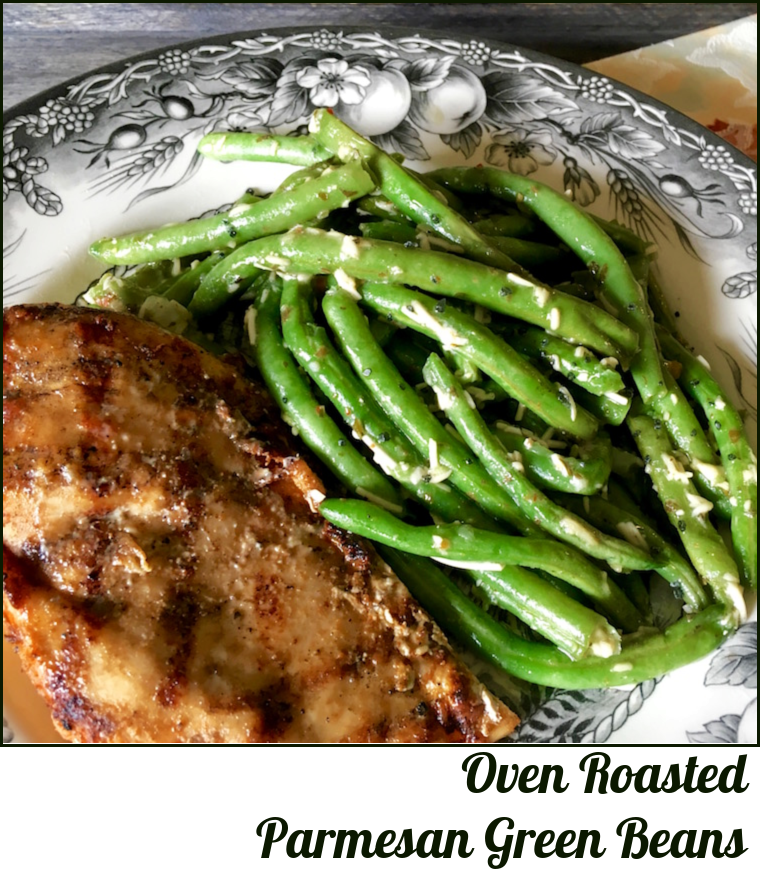 Oven Roasted Parmesan Green Beans_Plated --A Pinch of Joy