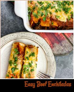 Easy Beef Enchiladas - A Pinch of Joy