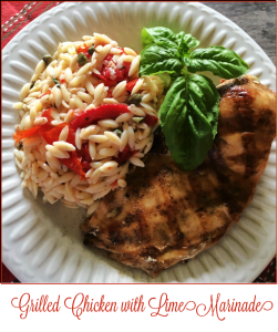 Grilled Chicken with Lime Marinade -- A Pinch of Joy