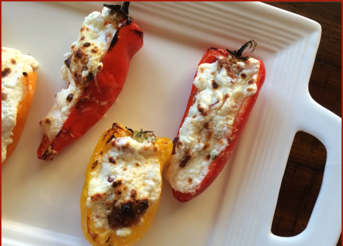 Bacon and Three Cheese Stuffed Mini Peppers